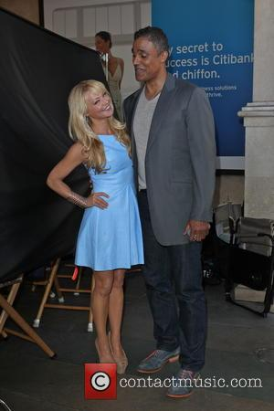Rick Fox and Charlotte Ross - Rick Fox and Charlotte Ross poses for a photograph whilst on a filmset at...