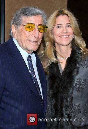 Tony Bennett and wife Susan Benedetto - Opening night of 'Elaine Stritch At The Carlyle: Movin' Over And Out' at...
