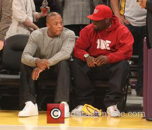 Dr Dre - Celebrities attend the Los Angeles Lakers vs Dallas Mavericks NBA basketball game at the Staples Centre. The...