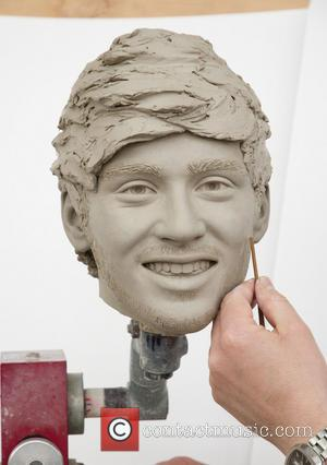 Zayn Malik, waxwork and Stephen Mansfield - Sculptors working on the moulds for the heads of the upcoming One Direction...