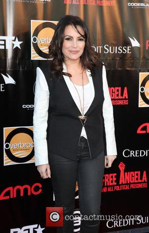 Angie Martinez - New York Premiere of 'Free Angela and All Political Prisoners' held at The Schomburg Center Langston Hughes...