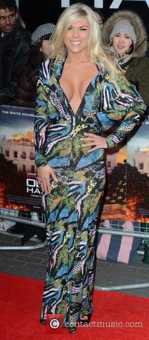 Frankie Essex - 'Olympus Has Fallen' UK film premiere held at the BFI IMax - Arrivals - London, United Kingdom...