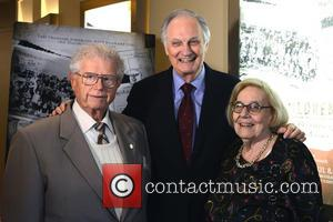 Erwin Tepper, Henny Wenkart and Alan Alda