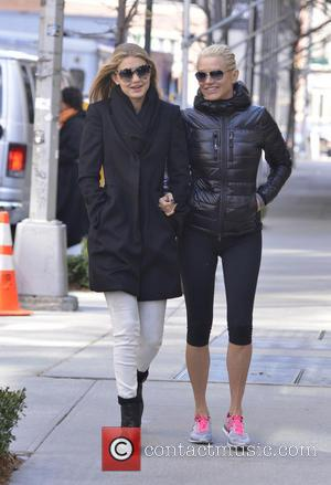 Yolanda Foster and Gigi Hadid - 'Real Housewives of Beverly Hills' stars out and about in Manhattan - New York,...