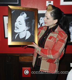 Imelda May - Celebrity Portrait Exhibition at Boisdale in Canary Wharf - London, United Kingdom - Thursday 4th April 2013