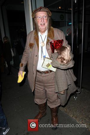 John McCririck - Celebrities leaving the Riverside Studios after filming for ITV2's 'Celebrity Juice' - London, United Kingdom - Thursday...