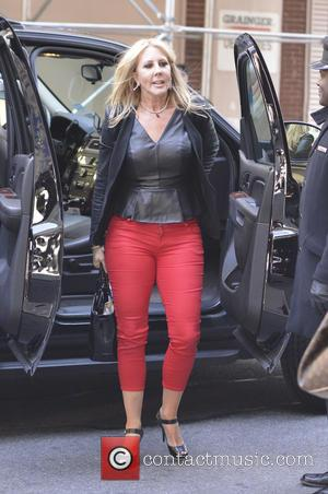Vicki Gunvalson - Cast members of 'The Real Housewives of Orange County' leaving their Manhattan hotel - New York City,...