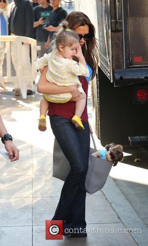 Harper Beckham and Victoria Beckham