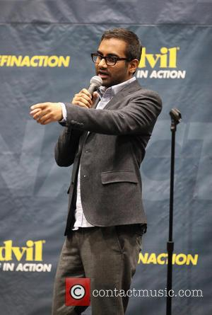 Aziz Ansari - Advil Relief In Action Campaign at the Barclays Center of Brooklyn - New York City, NY, United...