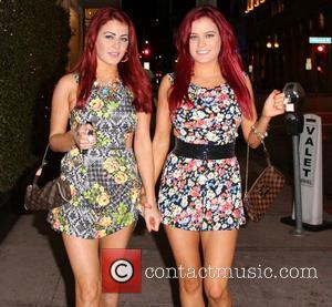 Melissa Howe and Carla Howe - The Howe Twins, Carla and Melissa Howe, arrive at Roxbury nightclub - Las Vegas,...