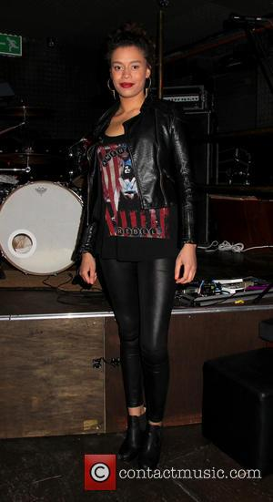 Monet Paris (Daughter of Mica Paris) - Priscilla Presley's son Navarone performs at The Kings Head in Hoxton with his...