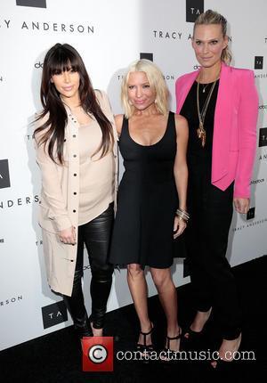 Kim Kardashian, Tracy Anderson and And Molly Sims