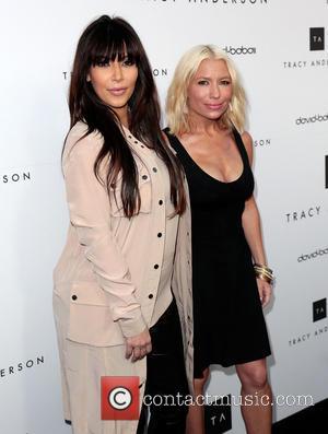 Kim Kardashian and Tracy Anderson
