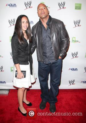 Dwayne Johnson, The Rock and Daughter - WWE Superstars for Sandy Relief at Cipriani Wall Street - Arrivals - New...