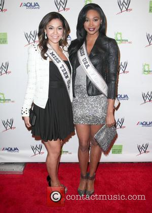Logan West Miss and Nana Meriwether - WWE Superstars for Sandy Relief at Cipriani Wall Street - Arrivals - New...