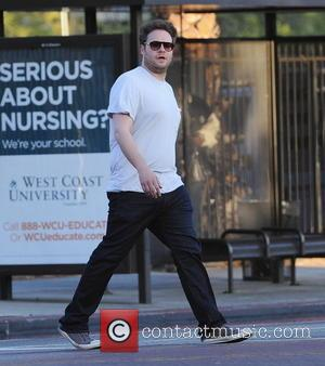 Seth Rogen - Actors on the set of 'Townies' filming on location in Los Angeles - Los Angeles, California, United...