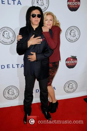 Gene Simmons and Shannon Tweed - The Friars Club Roast of Jack Black at The Hilton Hotel in New York...