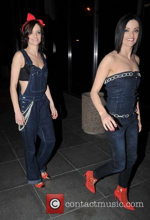 B*Witched and BWitched - 90's Irish girlband B*Witched who recently reformed on ITV2's 'The Big Reunion', seen outside the RTE...