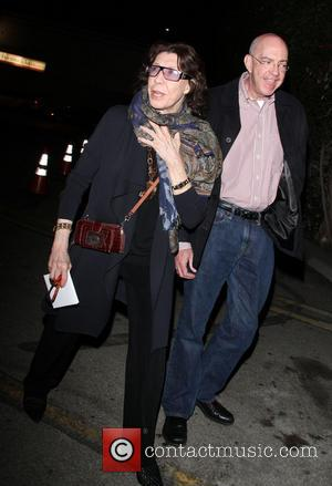 Lily Tomlin - Lily Tomlin and a friend leave the Egyptian Theater in Hollywood - Hollywood, California, United States -...