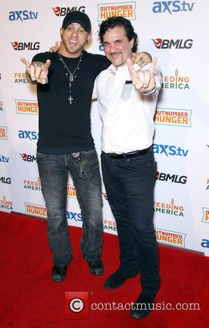 Brantley Gilbert and Scott Borchetta - ACM and BMLG Red Carpet for Out Number Hunger Live at The Orleans Hotel...
