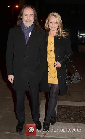 John Waters and Rita Simons - Celebrities outside the RTE Studios for 'The Saturday Night Show' - Dublin, Ireland -...
