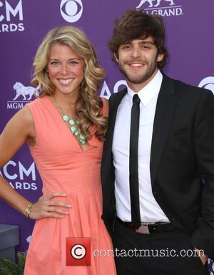 Lauren Akins and Thomas Rhett - 48th Annual ACM Awards held at the MGM Grand Garden Arena inside MGM Grand...