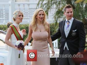 Jordan Carver, Prinz Ferdinand Von Anhalt and Sissi Fahrenschon - Prinz Ferdinand Von Anhalt marries Sissi Fahrenschon in a modest...
