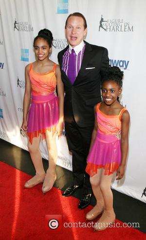 Carson Kressley and Students of Figure Skating in Harlem - 2013 Skating With The Stars Benefit Gala at Trump Rink...