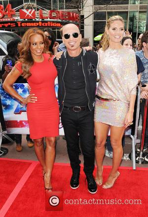 Melanie Brown, Mel B, Howie Mandel and Heidi Klum