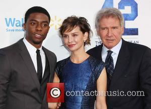 Chadwick Boseman, Calista Flockhart and Harrison Ford - Los Angeles premiere of '42' held at the Chinese Theatre - Arrivals...