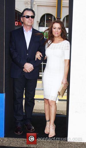Alyssa Milano and Her Dad