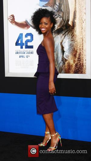 Teyonah Parris - '42 The True Story of an American Legend' Los Angeles premiere at TCL Chinese Theatre - Los...