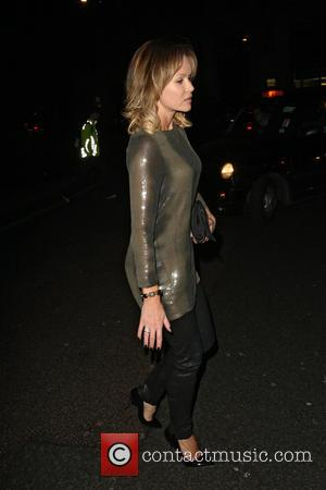 Amanda Holden - Celebrities at the Delaunay restaurant - London, United Kingdom - Tuesday 9th April 2013