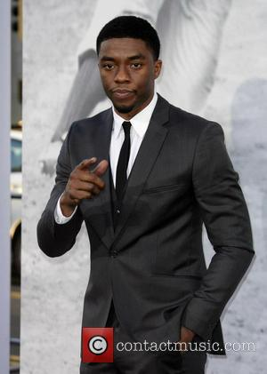 Chadwick Boseman - Los Angeles premiere of '42' held at the Chinese Theatre - Los Angeles, California, United States -...