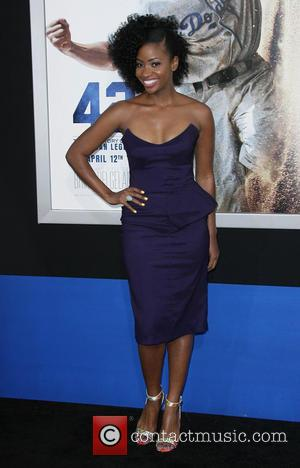 Teyonah Parris - Los Angeles premiere of '42' held at the Chinese Theatre - Los Angeles, California, United States -...