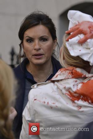 Mariska Hargitay - Actors seen on the set of 'Law and Order: SVU' in lower Manhattan - New York City,...
