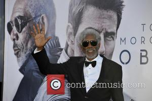 Morgan Freeman - Celebrities attend Los Angeles premiere of 'Oblivion' at The Dolby Theatre. - Los Angeles, CA, United States...