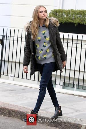 Cara Delevingne - Cara Delevingne filming a Pepe Jeans advertising campaign in Notting Hill - London, United Kingdom - Wednesday...