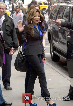 La Toya Jackson - La Toya Jackson is all smiles as she leaves ABC's 'Good Morning America' in Times Square...