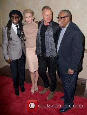 Nile Rodgers, Trudie Styler, Sting Styler and Sam Moore