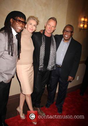 Trudie Styler, Sting, Nile Rodgers and Sam Moore