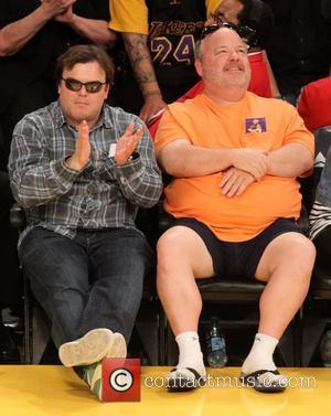 Jack Black and Kyle Gass - Celebrities watch the LA Lakers vs. the Golden State Warriors at the Staples Center...
