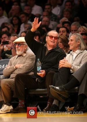 Jack Nicholson - Celebrities watch the LA Lakers vs. the Golden State Warriors at the Staples Center - Los Angeles,...