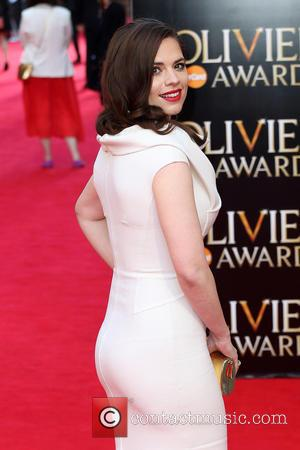Hayley Atwell - The Laurence Olivier Awards 2014 held at the Royal Opera House - Arrivals - London, United Kingdom...