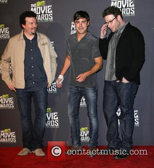 Seth Rogen, Danny McBride and Zac Efron - 2013 MTV Movie Awards held at Sony Pictures Studios - Press Room...