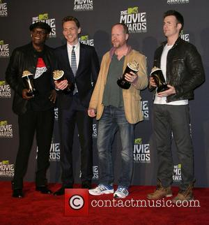 Samuel L. Jackson, Tom Hiddleston, Joss Whedon and Chris Evans