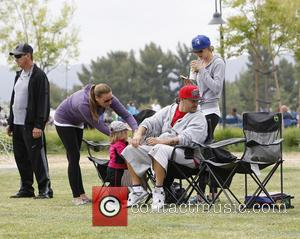 Kevin Federline - Britney Spears at her children's soccer game with her father and ex-husband at Pierce College in West...