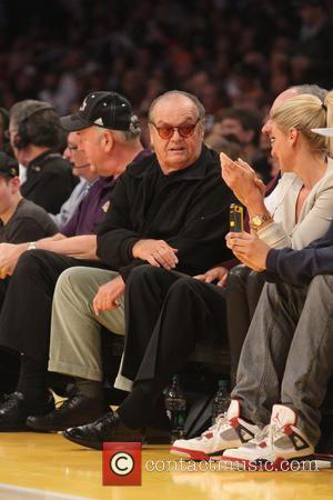 Jack Nicholson - Celebrities attend the Los Angeles Lakers vs San Antonio Spurs NBA basketball game. The Lakers beat the...