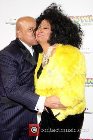 Berry Gordy and Diana Ross - Broadway opening night of Motown:The Musical at the Lunt-Fontanne Theatre - Arrivals - New...