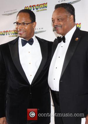 Yusef Jackson and Jesse Jackson - Broadway opening night of Motown:The Musical at the Lunt-Fontanne Theatre - Arrivals - New...